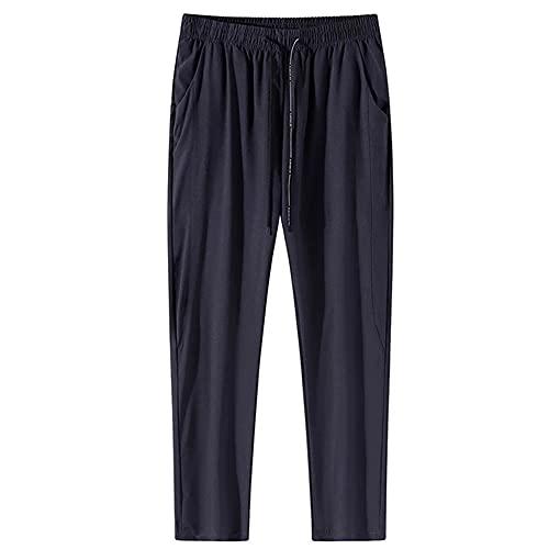 N\P Pantalones deportivos para hombre de talla grande para correr casual entrenamiento masculino