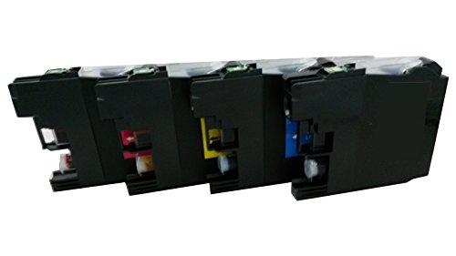 4 Reinigungspatronen kompatibel für Brother LC 127 LC125 DCP-J4110DW / DCP-J4110W MFC-J4310 DW MFC-J4410 DW / MFC-J4510DW / MFC-J4610DW / MFC-J4710DW / MFC-J6520DW / MFC-J6720DW / MFC-J6920DW