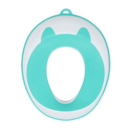 DONG Sedile del Water Bambino, Vasino Plastica Intelligente per Il Bambino E Bambino E, Sede Vasino Toilette, Superficie Antiscivolo Sicura,Blu