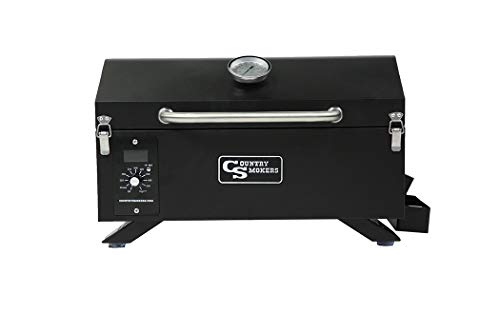 Country Smokers CSPEL015010497 Wood Pellet Grill and Smoker, Black