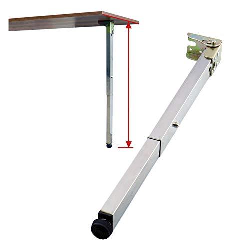 Wall Foldable Dining Table Legs, Telescopic Feet, RV Lift Legs, Bar Support Foot, 40-130cm