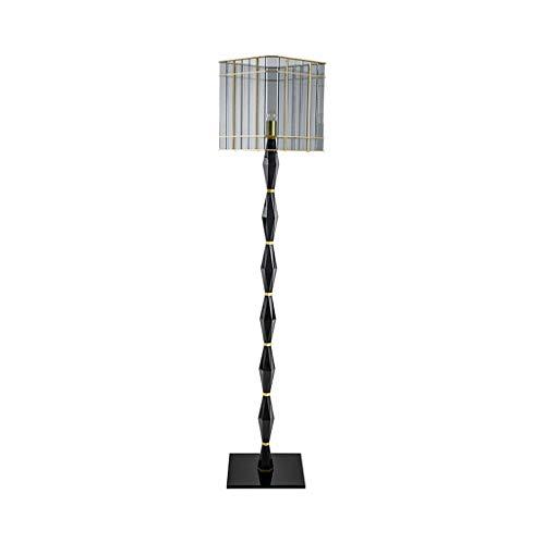 lampadaire Lampadaire, Lampadaire Vertical, Verre Gris Fumé, Base En Fer Forgé, Or Noir, Salon Canapé Salon