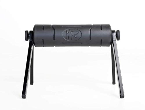 HighRoller The World's Most Efficient Ergonomic Foam Roller, Rolling Muscle and Fascia Care with 'Patented Elevation' Black