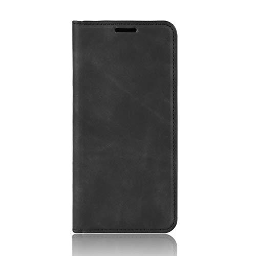 NEINEI Handyhülle für Xiaomi Poco X3 Pro/X3 NFC Hülle,Premium Lederhülle Klapphülle mit [Magnetisch] [Kartenschlitz],PU/TPU Einfaches Design Schutzhülle Flip Folio Cover Hülle,Schwarz