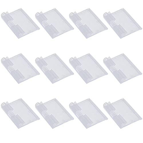 Hemoton Etiquetas de plástico de 30 unidades, para supermercado, precio de estantería, etiquetas de estante (transparente)