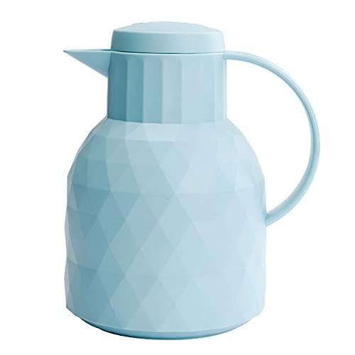 Pote de Aislamiento, Taza de Termo Exterior portátil, Botella Termo de Gran Capacidad para el hogar, Forro de Vidrio, a Prueba de Fugas 1L,Azul