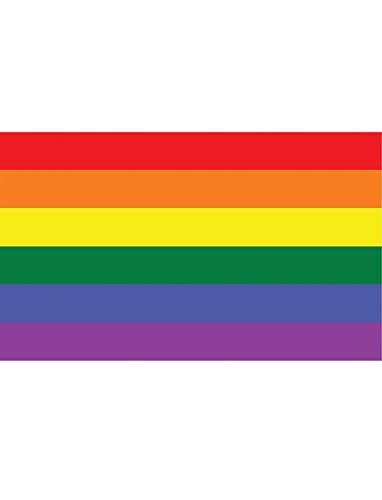 """TrendClub100® Fahne Flagge """"Regenbogen Rainbow LGBT Gay"""" - 150x90 cm / 90x150cm"""
