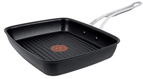 Tefal Premium Aluguss Grillpfanne by Jamie Oliver E21141 | 23x27cm +/- 0,5 cm | Titanium Pro Antihaft-Versiegelung für schonendes, fettarmes Braten | Thermo-Spot Temperaturindikator