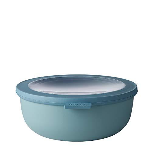 Mepal Multischüssel Cirqula rund Green – 1250 ml Inhalt – mit abnehmbarem Deckel – bruchfestes Material-auslaufsicher – tiefkühlgeeignet-spülmaschinengeeignet, PP/TPE, Nordic Grün