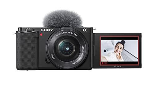 Sony Alpha ZV-E10L - Cámara vlog sin espejo de objetivos intercambiables con lente de kit Power Zoom de 16-50 mm f/3.5 - 5.6, pantalla de ángulo variable para vlogging, color negro