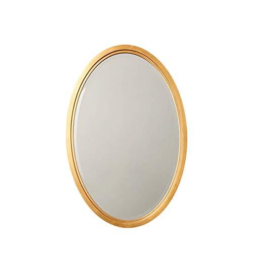 Ovale badkamerdecoratieve spiegel, houten kaptafel voor aan de muur hangende ideeën