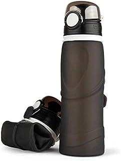 زجاجة مياه رياضية 750 مللي سيليكون قابلة للطي زجاجات للتخييم والتنزه وصيد السمك والسفر مع مانع للتسرب خالية من بيسفينول ا ...