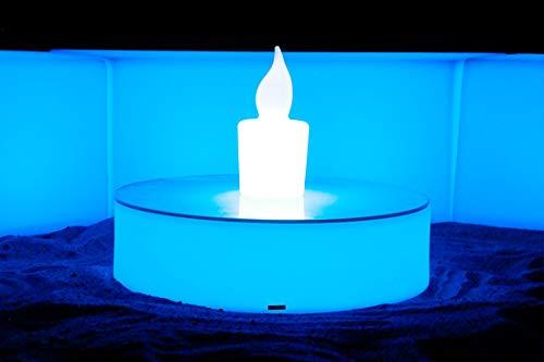 FURSTAR LED Lounge Leuchtmöbel ROXDA TOP LED Tief Couchtisch, Loungetisch, Designtisch
