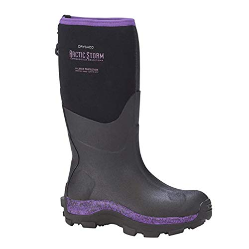 DRYSHOD Womens Arctic Storm Extreme-Cold Conditions Winter Boot, Black/Purple, 9