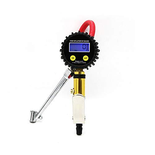FDSER Digital Reifendruckprüfer Reifendruckpistole Inflationspistole Gaszähler Manometer aufblasbare Gaspumpe Luftpistole Düse