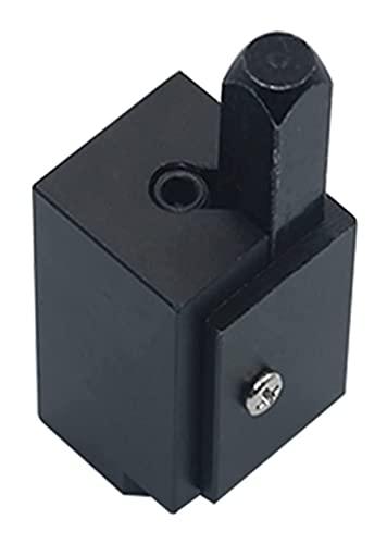LIXSLT Herramienta de cincel de esquina de alta precisión con bisagra de corte rápido para esquina de madera cincelado herramienta de carpintería cuadrada (color: negro)