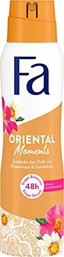 Fa Deospray Oriental Moments mit dem zarten Duft von Wüstenrose & Sandelholz, 48h Schutz, 150 ml