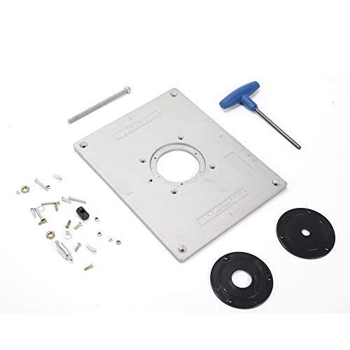 Aluminium-Einsatzplatte 9,3 mm Festplatten-Montageplatte Fräsfräser Fräsmaschine DIY-Werkzeug