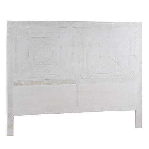Blanc Bois 3.5 x 100 x 115 cm Bainba T/ête de lit Ailes