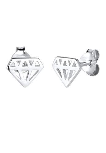 Elli–Orecchini da donna Trend simbolo a forma di diamante in argento 925–0305420815