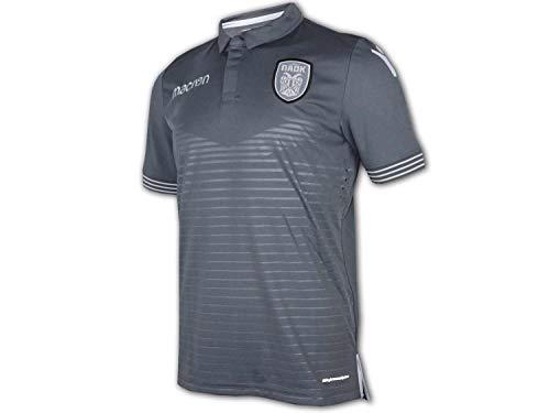 Macron PAOK Thessaloniki Auswärts Trikot 18/19 grau PAOK Saloniki Away Shirt, Größe:M