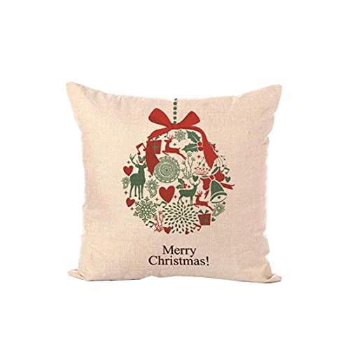 iuNWjvDU 18X18 Pulgadas de Navidad Creativo Throw Pillow Caso temático Decoración cómodo Cojín Cuadrado Cubierta Feliz Navidad Estilo Cojines y Accesorios