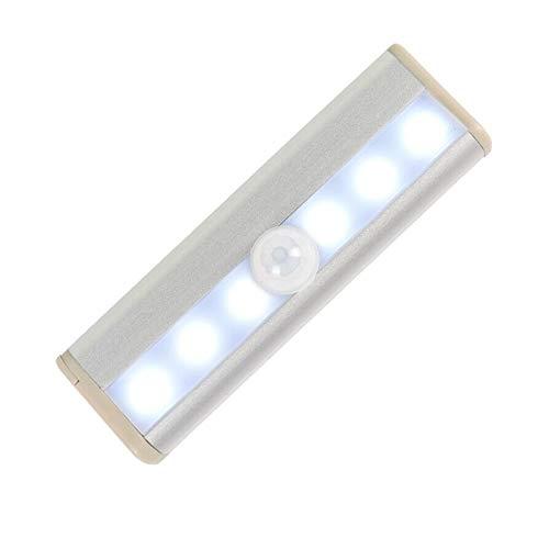 Speaklaus Luces LED con sensor de movimiento, autoadhesivas, inalámbricas, para armario