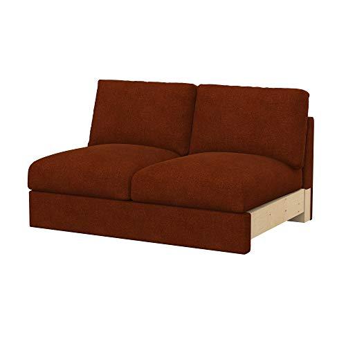 Soferia Funda de Repuesto para IKEA VIMLE módulos sofá de 2 plazas, Tela Strong Copper, Naranja
