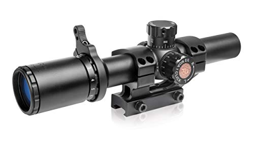 TRUGLO TRU-Brite 30 Series 1-6 X 24mm Dual-Color Illuminated-Reticle Rifle Scope with Mount, Matte...