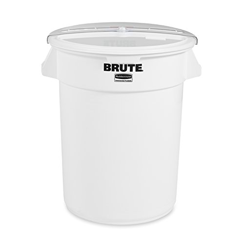 Rubbermaid Commercial Brute Prosave Ingredient Container with Sliding Lid and 4 Cup Scoop, 32-Gallon, 23.40