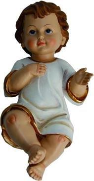 Miniaturfiguren Puppenhaus Figuren Jesuskind mit Hemd, Höhe 4,5cm, handbemalen