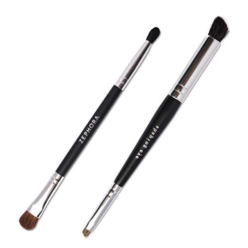 Berglink Makeup Pinsel Set, 2 Pcs Double Ended Blending Brush Schminkpinsel Set für Lidschatten,...