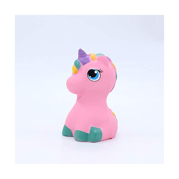 YXJC Fun Toys Squishies, Kawaii Pink Unicorn Pony Squishy, Creamy Aroma Slow Rising Squeeze Toys for Boys and Girls Gift 7