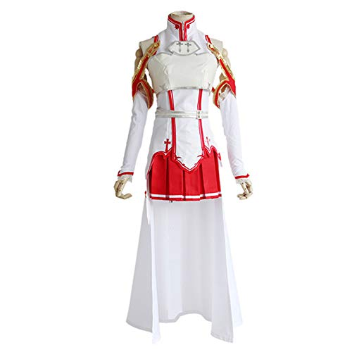 FINDPITAYA Kostüme Sword Art Online Sao Yuuki Asuna Halloween Weihnachten Party Erwachsene Cosplay mit Zubehör (XXL)