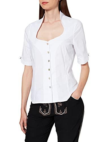 Stockerpoint Damen Bluse Priscilla Trachtenbluse, Weiß (Weiss Weiss), (Herstellergröße: 40)