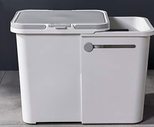 DIAO Tragbarer Vorratsbehälter Haushalt versenkbare 3-Klasse Mülltonne Küche großes Wohnzimmer Müll trocken und nass recycelbar