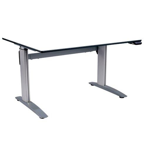 metalliform ha800/a-127-ps-bl-white höhenverstellbar Tisch, duraform PU Blau Edge, weiß