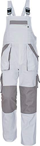 MAX - Pantalones con Peto de Trabajo para Hombre de algodón Blanco 58