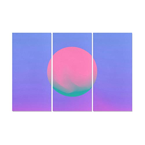 Jnseff 3 Panel Bathroom Decor Wall Art Cosmic Vaporwave Synthwave Retrowave Kind Wall Decor Canvas Print Fabric Canvas Printing Paper for Home Living Room Bedroom Bathroom Wall Decor Posters