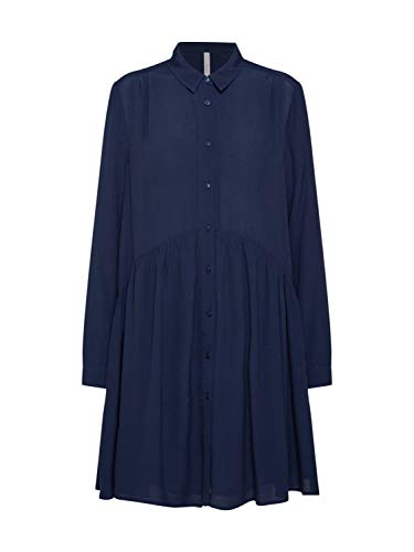 Pepe Jeans Damen Blusenkleid Jackie dunkelblau S (36)