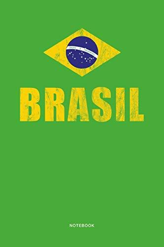 Brasil Notebook: Stylisches Brasilien Notizbuch. 110 Seiten für Notizen und Einträge. Ideal für Fans des Zuckerhuts.