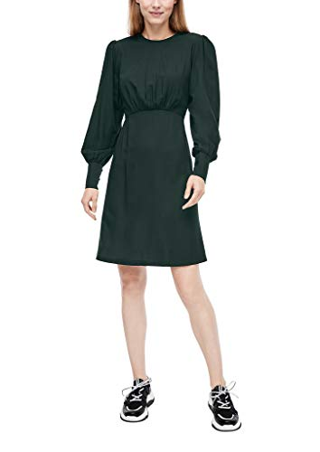 Q/S designed by - s.Oliver Damska sukienka 510.10.009.20.200.2043648, ciemnozielony, 38 PL