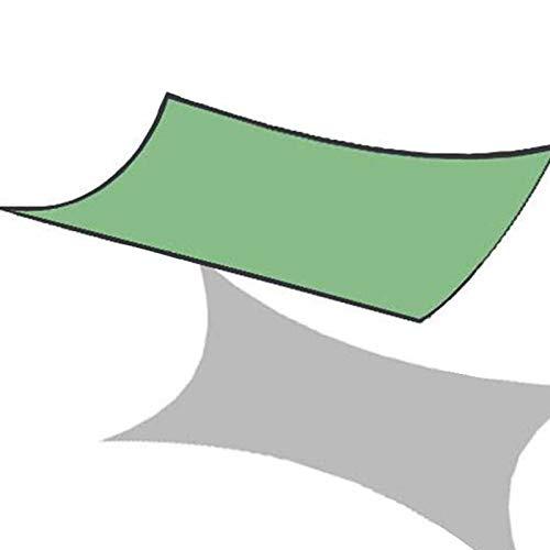 XQHD Toldo Vela de Sombra Impermeable, toldos y Velas Malla Sombreo Transpirable para Patio, Exteriores, Jardín,Green-6x8m