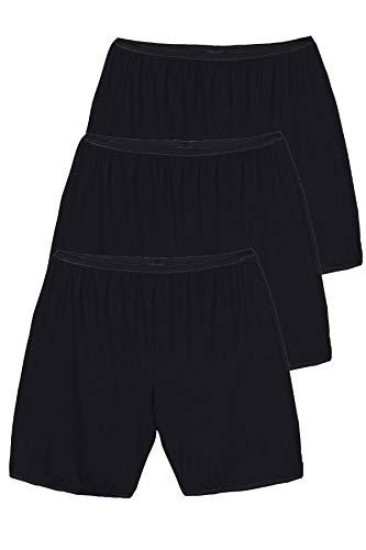 Ulla Popken Damen Panty, 3er Pack, Oberschenkelschutz Panties, Schwarz (schwarz 10), (Herstellergröße:46+)