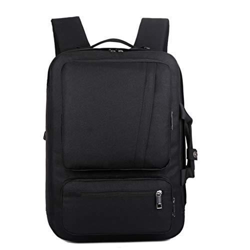 KKCD 17 Inch Laptop Rugzak Multifunctionele Notebook Aktetas/schouder Bag/handtas School Bag Voor Mannen Vrouwen, Zwart