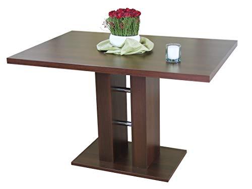 moebel direkt online Säulentisch, Breite 120 cm Alice Nussbaum-Nachbildung