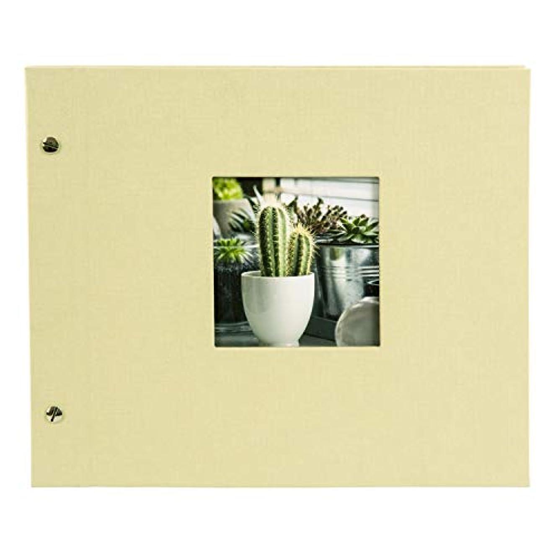 Goldbuch Bella Vista Screw Album Linen Lime Green 30 x 25 x 2