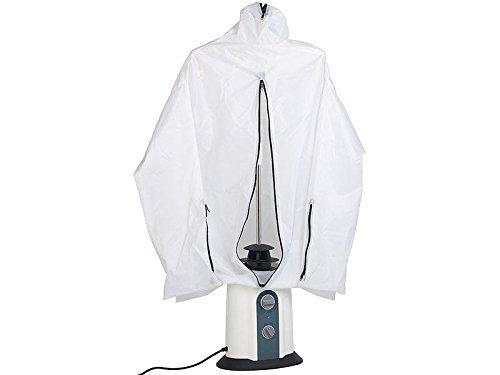 Sichler Haushaltsgeräte Hemdenbügler: 2in1-Bügelpuppe, Warmluft-Gebläse und Kleiderständer, Timer, 850 Watt (Bügelhilfe)