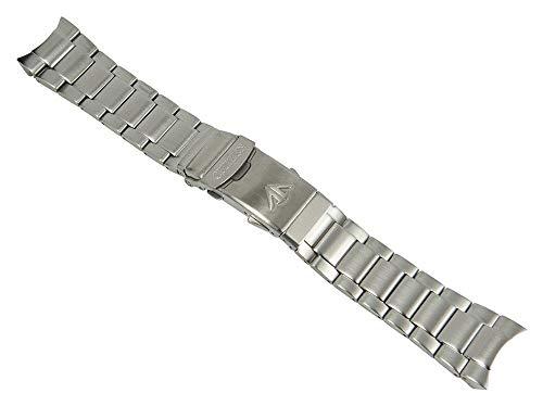 Ersatzband Uhrenarmband Edelstahl Band silberfarben passend zu Citizen Promaster Taucheruhr BN0100 28144