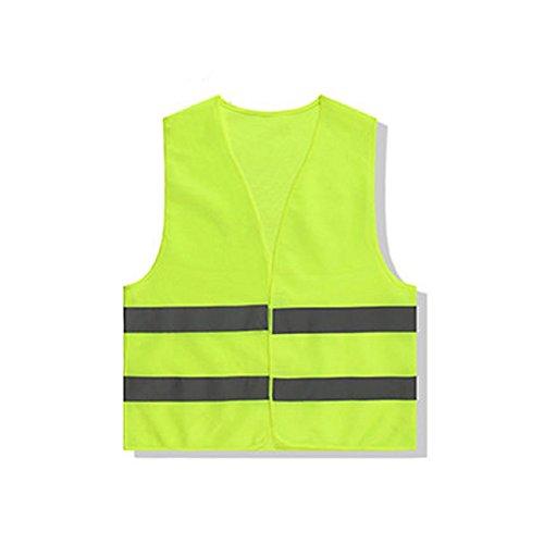 Westeng Gelb Unisex Reflektierende Weste Auto Weste Sicherheitsweste Mit reflektierenden Streifen Für Nachtarbeit Draußen